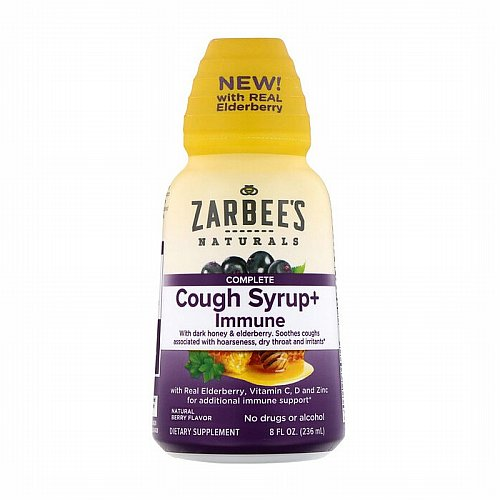 Zarbees, Complete Cough Syrup + Immune, Natural Berry, 8 fl oz (236 ml)