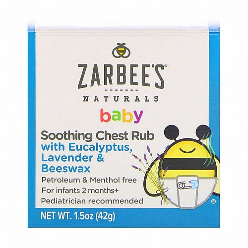 Zarbees, Baby, Soothing Chest Rub with Eucalyptus, Lavender & Beeswax, 1.5 oz (42 g)