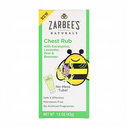 Zarbees, Naturals, Chest Rub with Eucalyptus, Lavender, Pine & Beeswax , 1.5 oz (43 g)