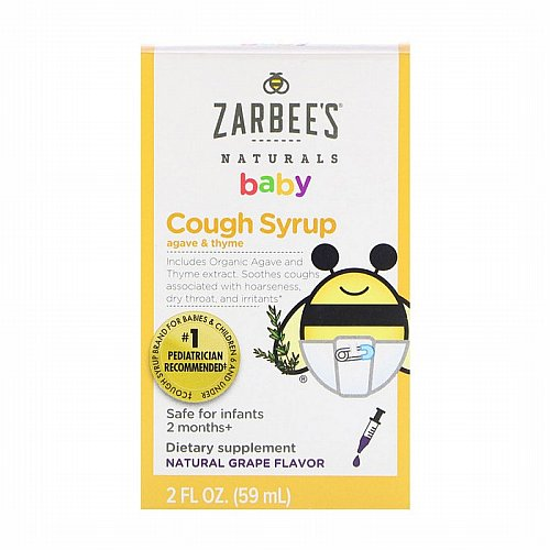 Zarbees, Baby Cough Syrup, Natural Grape Flavor, 2 fl oz (59 ml)