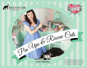 "Ten Lives Club ""Pin Ups & Rescuscue Cats"" Calendar"