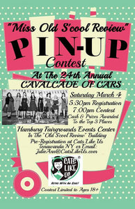 Annual Cavalcade of Cars Miss 'Old S'cool Review' Pinup Contest