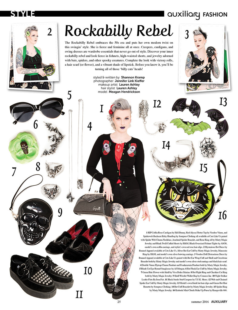 Rockabilly Rebel Style Feature in Auxiliary Magazine