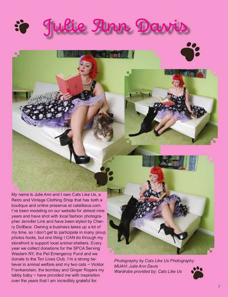 Julie Ann with Cats In Rocket Magazine