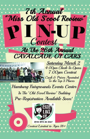 Miss Old S'Cool Pin Up Contest at Cavalcade of Cars 2019