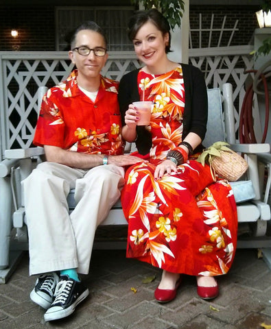 Andrew and Julie Ann dressed in their tiki best!