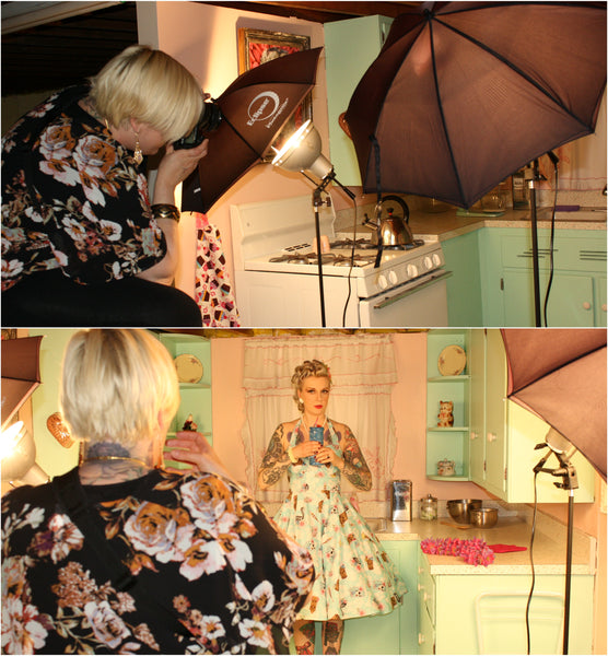 Behind the scenes my first pinup shoot with Sweetheart Pin Up Studio