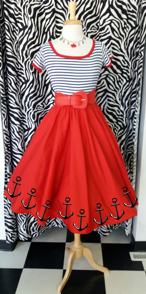 Customize Circle Skirt with Anchors