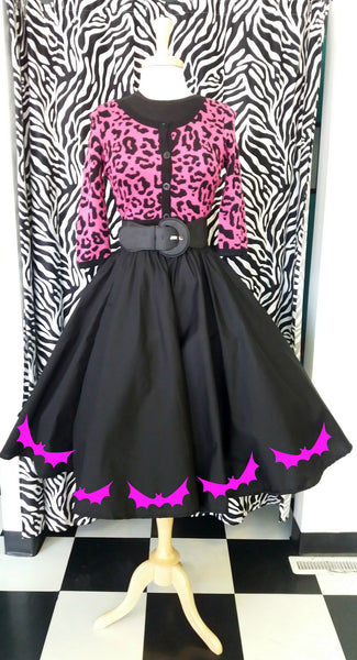 Customize your own skirt black circle skirt