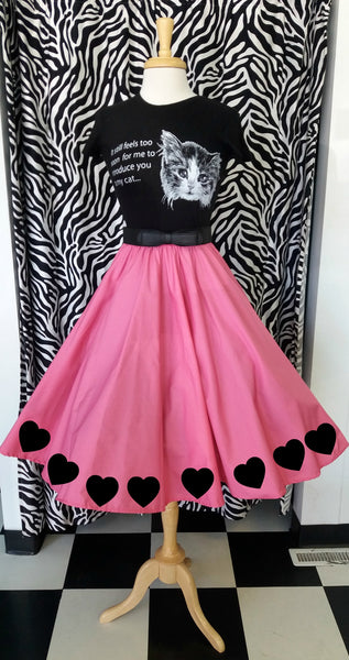 Customize your own circle skirt blog Pink Circle Skirt