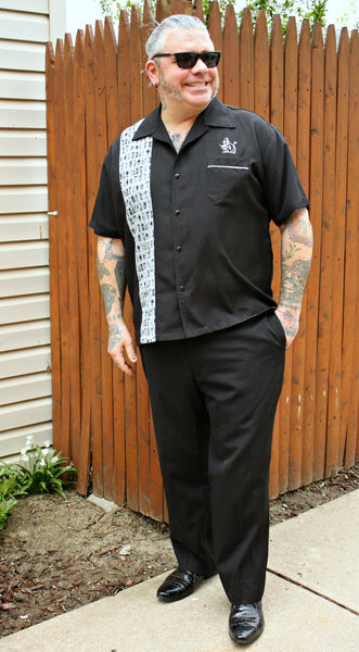 Bowling Lounge Shirt styled for dressy occassional