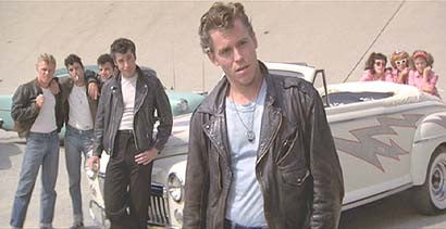 Retro movie fashion, Grease. T-Birds. 1950s mens retro fashion