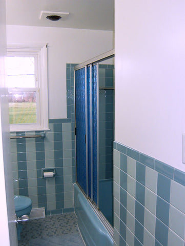 A retro renovation, save the blue bathroom