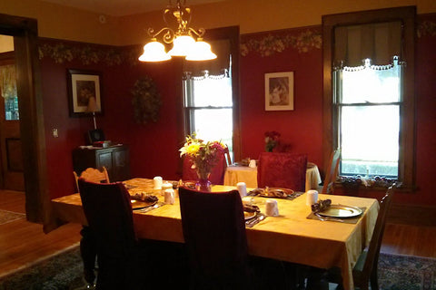 Dining room at the Inn on the Main. Canandaigua, NY