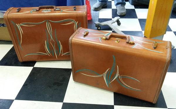 Pinstriped luggage