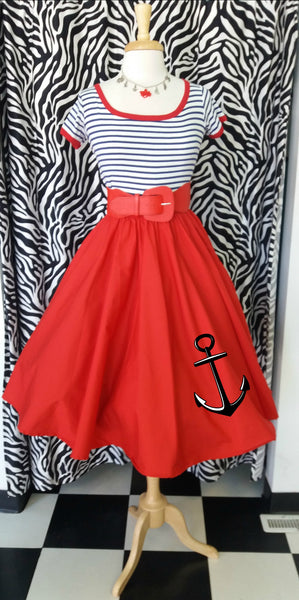 Customize your own circle skirt blog red circle skirt and anchors