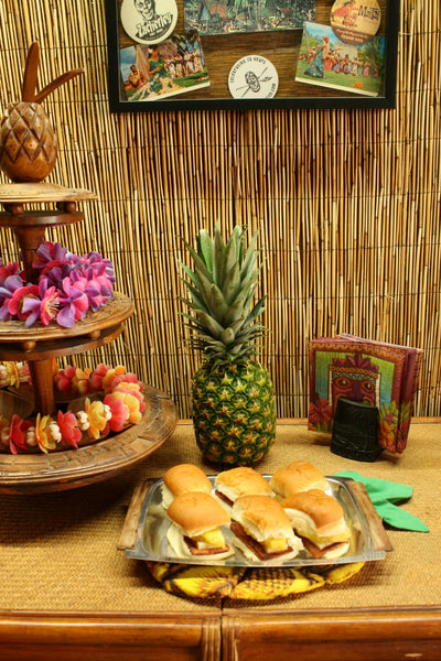 Tiki Tuesday Luau Food SPAM sliders