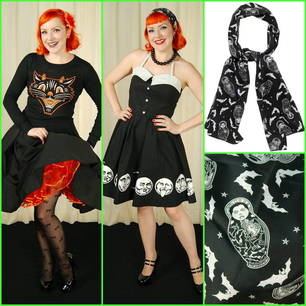 Vintage Inspired Halloween Art by Sourpuss Clothing