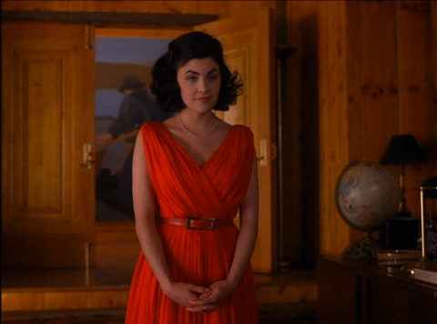 Audrey Horne red dress