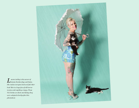 Lauren Ashley, punup in the cat calendar