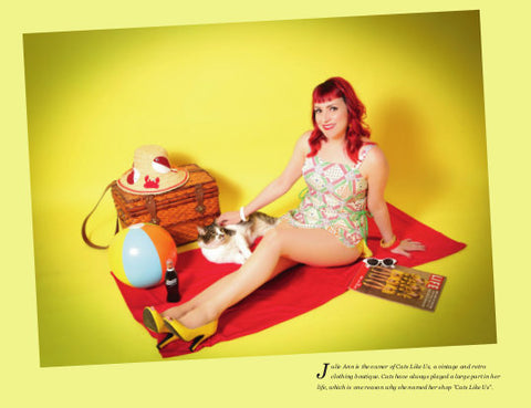 Julie Ann, pinup in the cat calendar