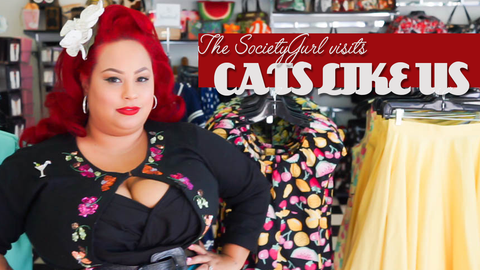 SocietyGirl video about shopping at Cats Like Us