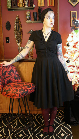 Rosina Black Dress by Hell Bunny