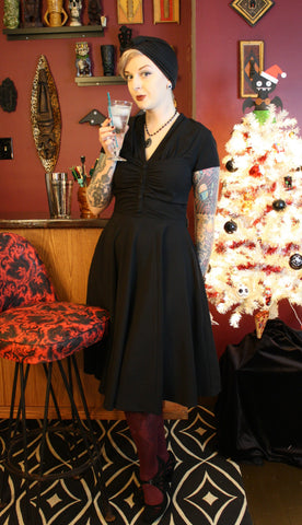 Hell Bunny black Rosina Dress
