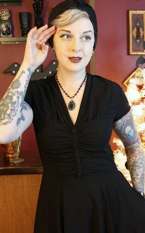Rosina Black Dress Hell Bunny