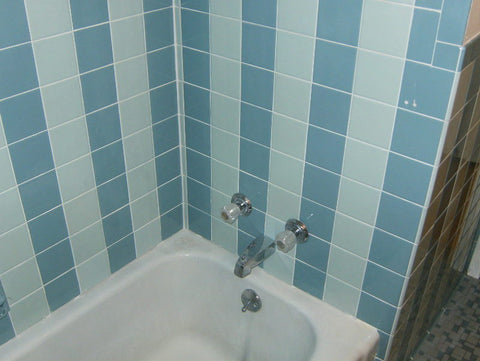 Save the blue bathroom. Retro remodel 1950s