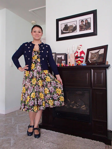 Trashy Diva Louise dress in Victory Floral-with Navy