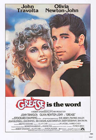 retro movie Grease. 1950s retro movie fashion