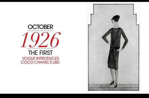 Coco Channel 1926 LBD Vogue