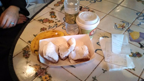 Beignet donuts at Cafe Beignet, French Quarter, New Orleans