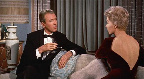 Kim Novak and jimmy Stewart in bell Book and Candle