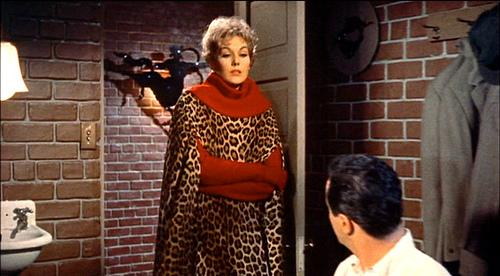Kim Novak in Leopard in Bell Book and candle