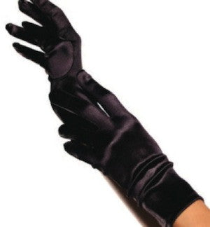 satin retro style gloves