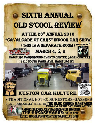 Old S'cool Review Cavalcade of Cars 2016