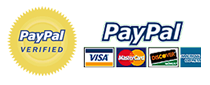 Shop online securely using PayPal. We accept VISA, Mastercard, Discover and American Express.