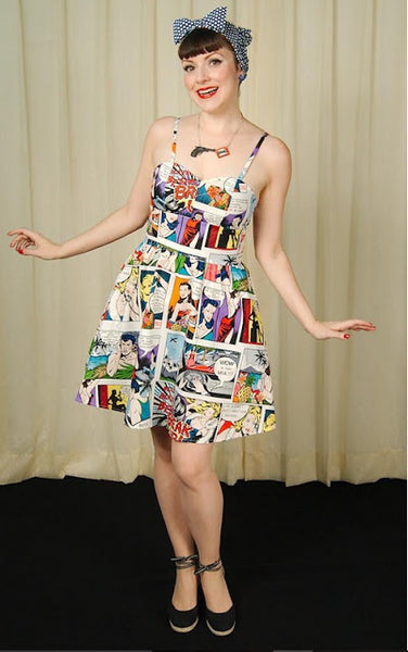 Pop Art Comic Dress by Folter Clothing