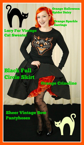 Shop the look Lucy Fur Vintage Cat Sweater outfit