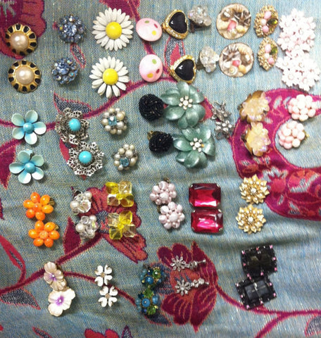 vintage clip on earrings collection
