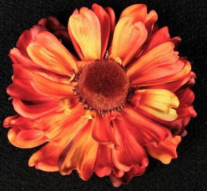 Large Orange Flower Hairclip by Zombetty Bows is a wonderful tool to use to hide that one roll that is not cooperating.
