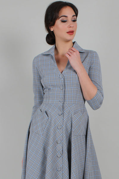 Barbara Plaid Shirt Dress