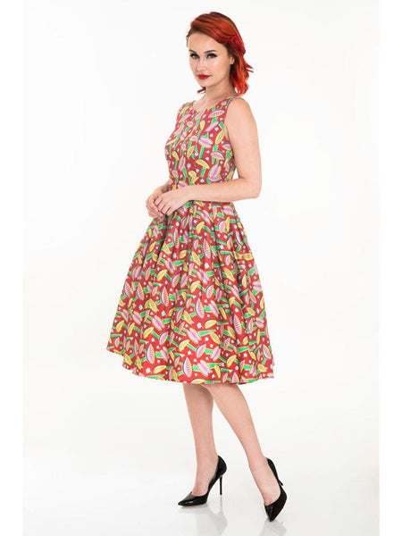 Venus Fly Trap Lily Swing Dress