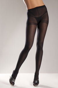 Black Opaque Nylon Tights by Be Wicked