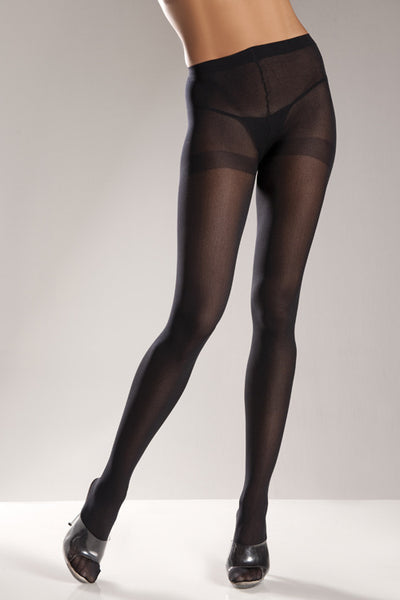 Black Opaque Nylon Tights - Cats Like Us