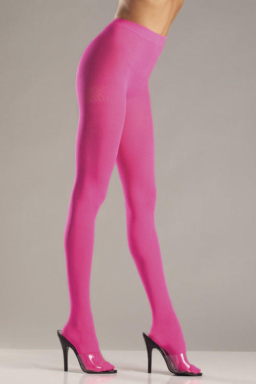 Pink Opaque Nylon Tights by Be Wicked : Cats Like Us