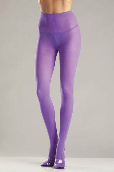 Purple Opaque Nylon Tights