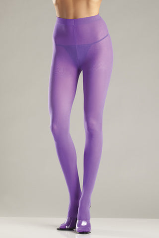 Purple Opaque Nylon Tights - Cats Like Us